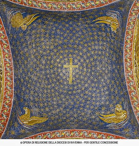 mosaico cielo stellato di Galla Placidia